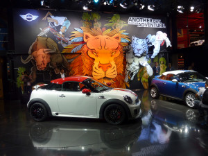 Press conference with huge pop-up scene for BMW/MINI
