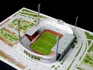 """Football Stadium """"Gruenwalder Stadion, 1860 München"""""""