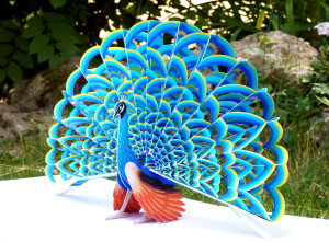 "Pop-Up sculpture ""peacock"""