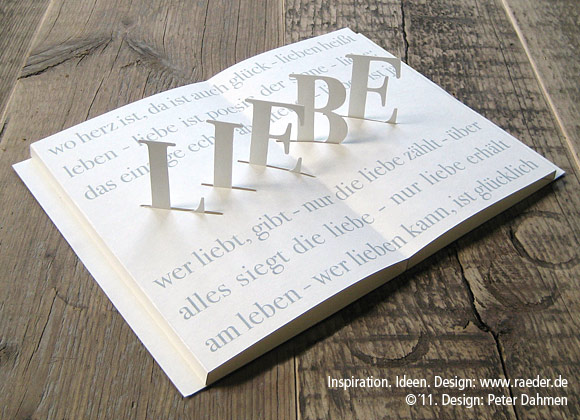"Poetry Pop-Up Card  ""Liebe"" (Love)"