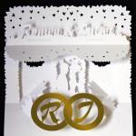 Wedding Invitation Pop-Up-Card, detail