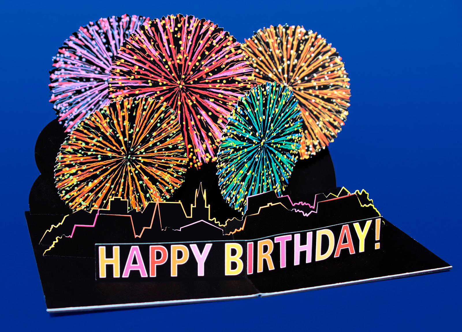 Pop-Up Card u201cFireworks u2013 Happy Birthdayu201d