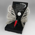 Lipgloss box with silver wings